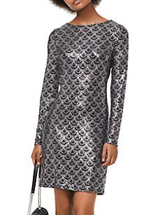 Glitter Chandelier Print Dress