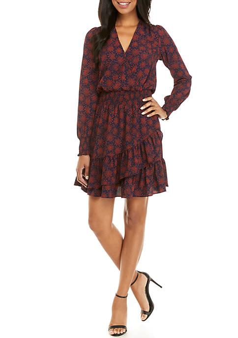 Flower Ruffled Dress