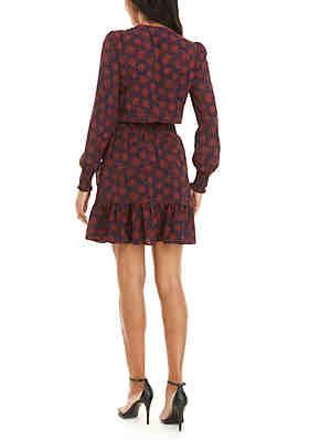1c02ac6c6ca MICHAEL Michael Kors Flower Ruffled Dress MICHAEL Michael Kors Flower  Ruffled Dress