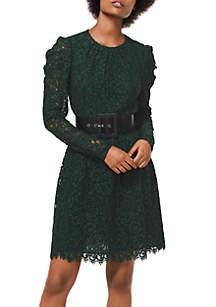 Mesh Floral Lace Dress