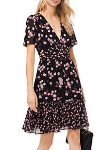 Rose Print Mix Dress