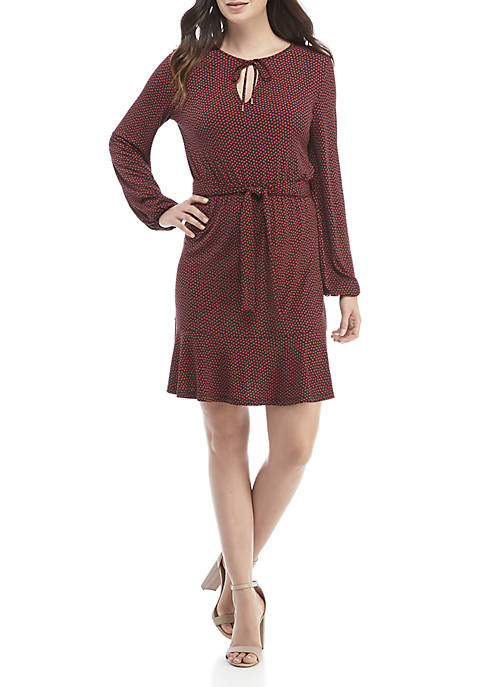 MICHAEL Michael Kors Blouson Sleeve Tie Waist Dress