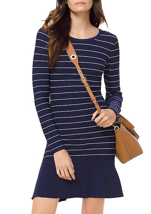 MICHAEL Michael Kors Long Sleeve Texture Sweater Dress