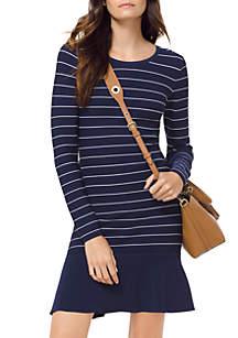 Long Sleeve Texture Sweater Dress