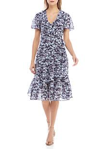 Fern Ruffle Wrap Dress