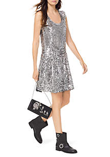 Sequin Mesh Slip Dress