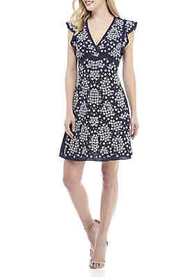 1870e1fcc96c MICHAEL Michael Kors Sequin Floral Lace Sheath Dress ...