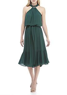 Logo Halter Dress