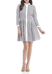 MICHAEL Michael Kors Pinstripe Poplin Dress