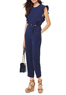 Belted Ruffle Jumpsuit