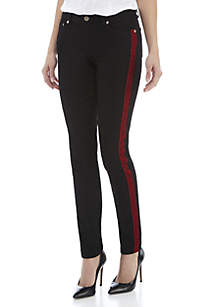 Velvet Lux Stripe Denim Jeans