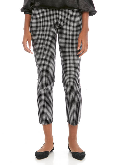 MICHAEL Michael Kors Womens Check Cigart Cropped Pants