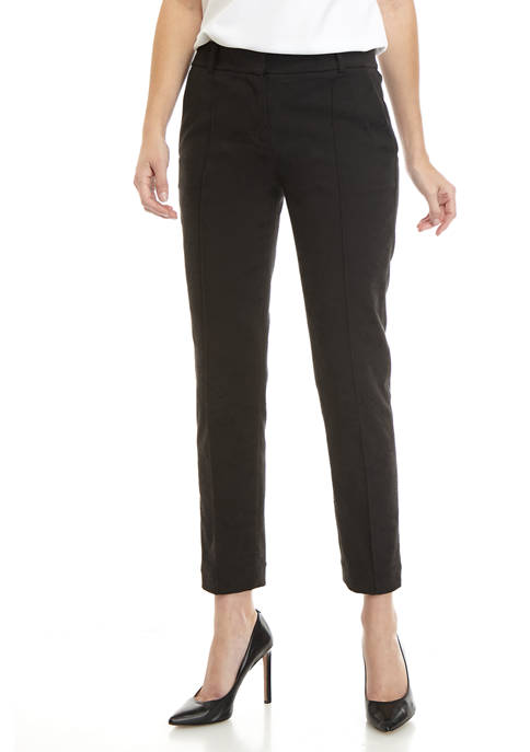 Womens Lace Jacquard Pintuck Pants