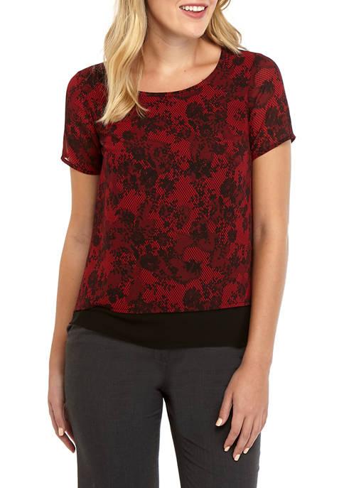 MICHAEL Michael Kors Womens Lace Print Split Back