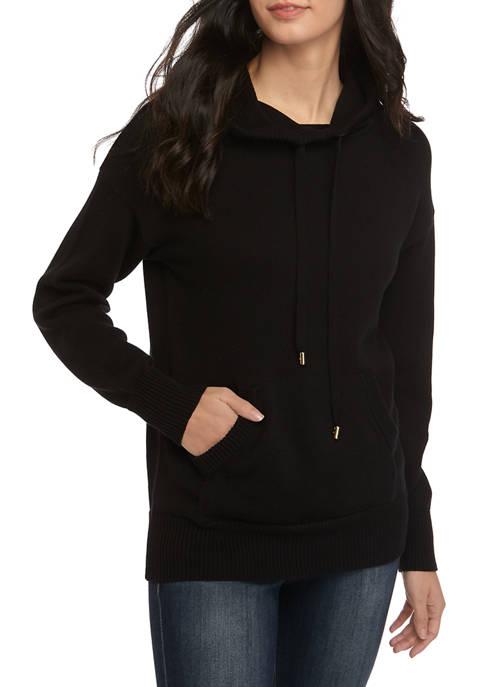 MICHAEL Michael Kors Womens Pocket Hoodie Sweater
