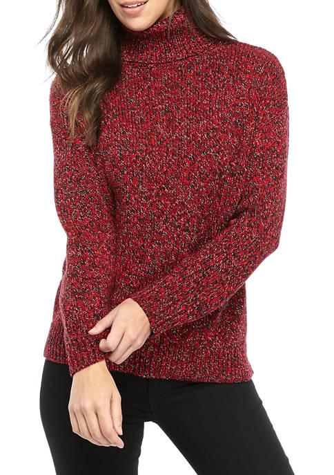 MICHAEL Michael Kors Womens LUREX® Marl Turtleneck Sweater