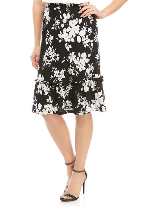 Womens Tropical Ruffle Skirt