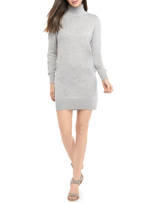 MICHAEL Michael Kors Womens Cutout Sleeve Turtleneck Sweater
