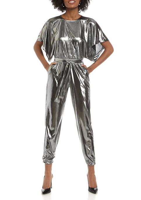 MICHAEL Michael Kors Womens Dolman Short Sleeve Jumpsuit