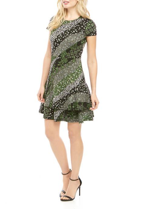 MICHAEL Michael Kors Womens Collage Print Tier Dress
