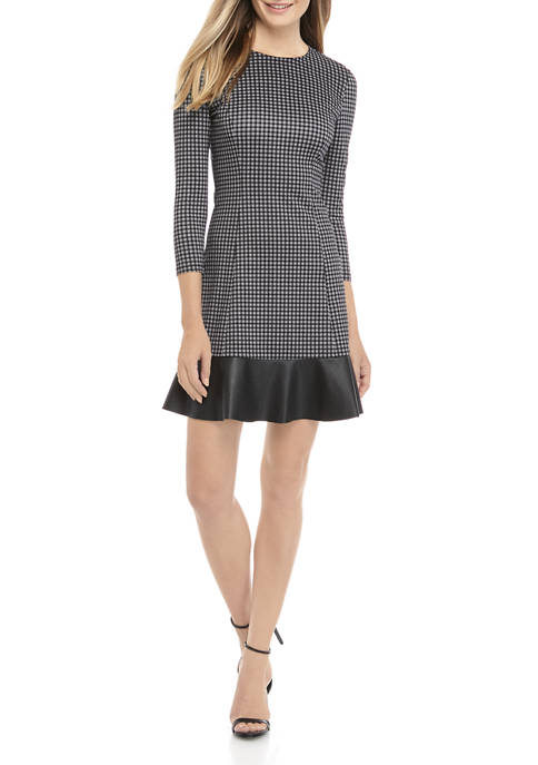 MICHAEL Michael Kors Womens Check Fit and Flare