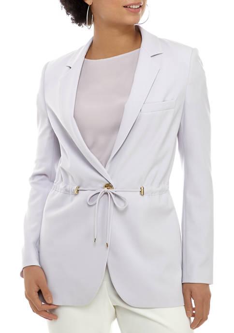MICHAEL Michael Kors Womens Drawstring Waist Button Front