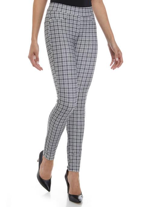 MICHAEL Michael Kors Womens Checkered Pull On Leggings