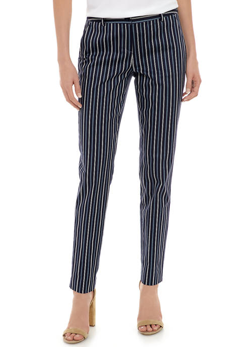 MICHAEL Michael Kors Womens Stripe Miranda Pants