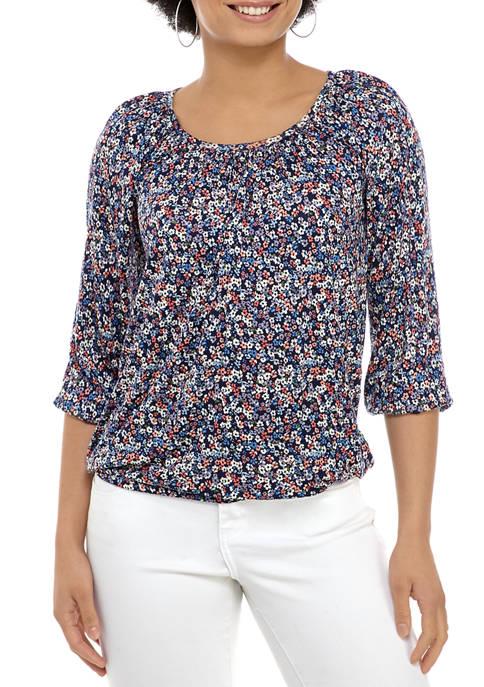 MICHAEL Michael Kors Womens Dainty Bloom Peasant Knit