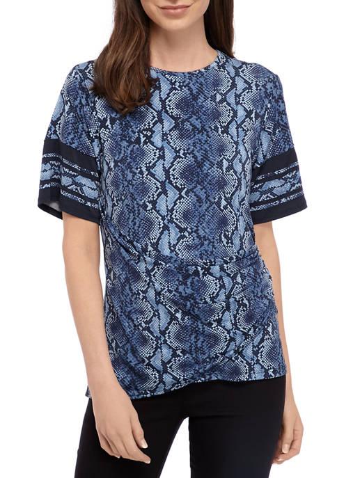 MICHAEL Michael Kors Womens Snakeskin Print Wrap Knit