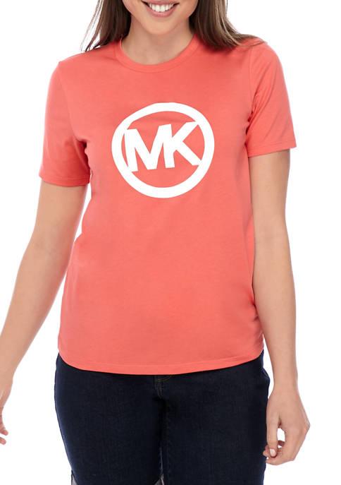 MICHAEL Michael Kors Womens MK Circle Logo T-Shirt