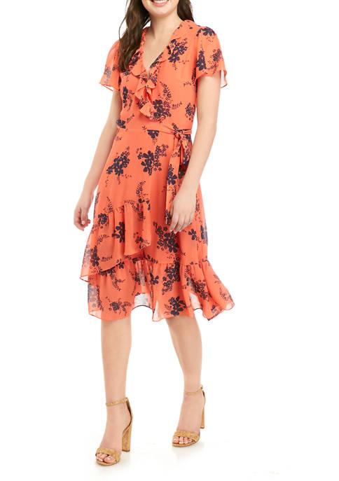 MICHAEL Michael Kors Womens Bouquet Woven Dress
