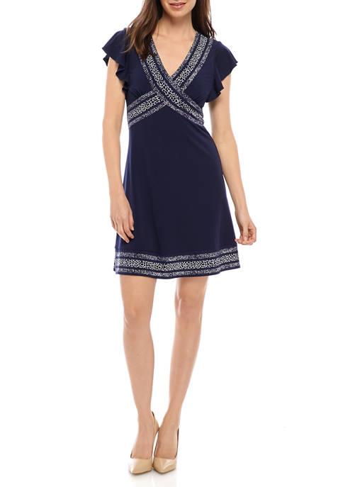 MICHAEL Michael Kors Womens Snakeskin Border Dress