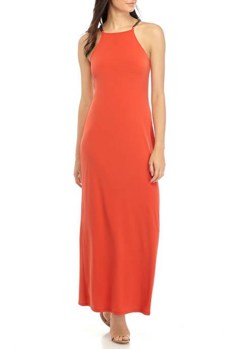 Womens Chain Maxi Dress