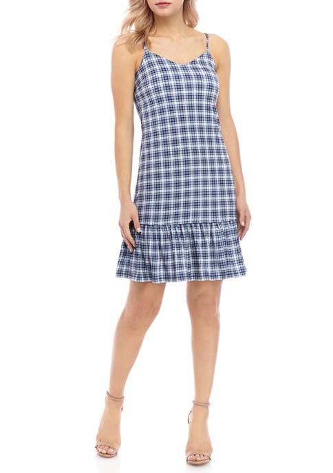 MICHAEL Michael Kors Womens Glen Plaid Slip Dress