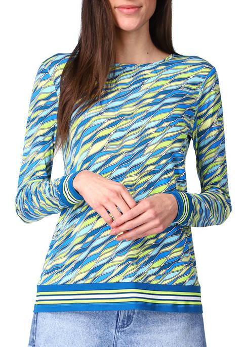 MICHAEL Michael Kors Womens 60s Wave Long Sleeve