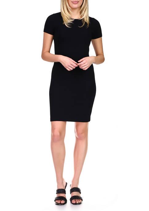 MICHAEL Michael Kors Womens Textured Midi T-Shirt Dress