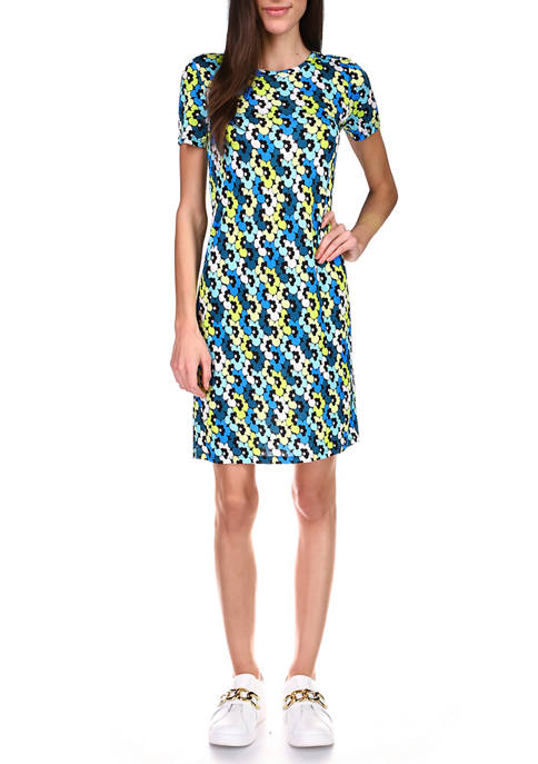 MICHAEL Michael Kors Womens 60s Midi T-Shirt Dress