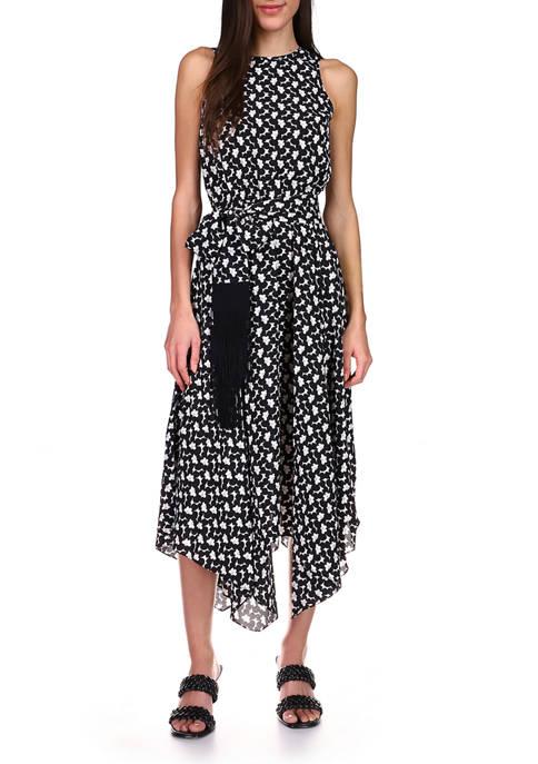 MICHAEL Michael Kors Womens Handkerchief Hem Dress