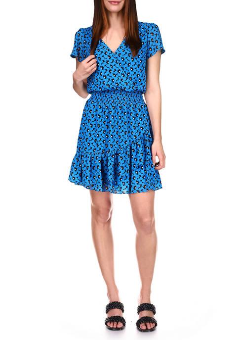 MICHAEL Michael Kors Womens 60s Floral Short Sleeve
