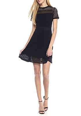 75a2fe1f81b MICHAEL Michael Kors Mesh Combo Dress ...