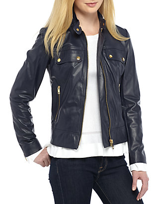 239cbbe2e MICHAEL Michael Kors Mod Leather Jacket | belk