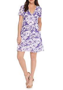 Spring Floral V-neck Dress