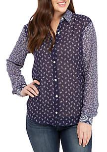 MICHAEL Michael Kors Paisley Mix Button-Down Shirt