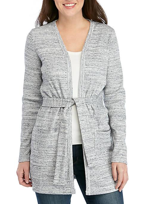 MICHAEL Michael Kors Rib Knit Tie Cardigan