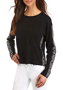 bc13b831f44 MICHAEL Michael Kors Printed A Line Dress · MICHAEL Michael Kors Logo Tape  Long Sleeve Tee