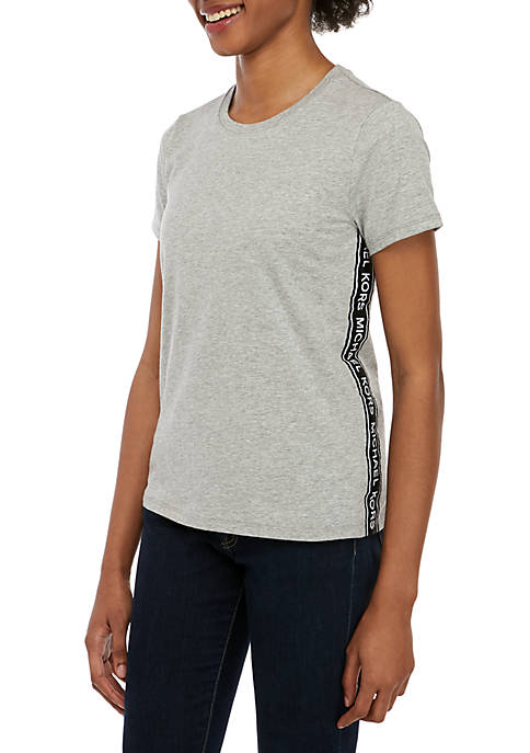 MICHAEL Michael Kors Short Sleeve Logo Tape T