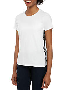 MICHAEL Michael Kors Short Sleeve Logo Tape T Shirt
