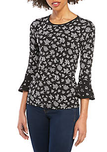 9743415e269be2 MICHAEL Michael Kors Butterfly Cold Shoulder Flounce Blouse · MICHAEL  Michael Kors Floral Flare Sleeve Top