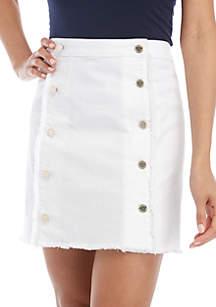 MICHAEL Michael Kors Button Front Denim Skirt